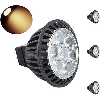 Bonlux 3-packs 5W MR16 GU5.3 LED Luz Cálida 3000k 450lm 45 grados