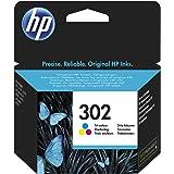 HP 302 Tri-color Original Ink Cartridge 4ml 165páginas Cian, Amarillo cartucho de tinta - Cartucho de tinta para impresoras (