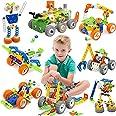 175 Piezas Bloques de Construcción,Juguetes para Niños de 5,6,7,8 Años y Mayores, Juego construccion,Aprendizaje de Juegos de