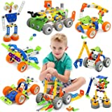 Giochi Costruzioni per Bambini, Kit di blocchi da costruzione per bambini, 175pz 11-in-1 Giocattolo educativo creativo da cos