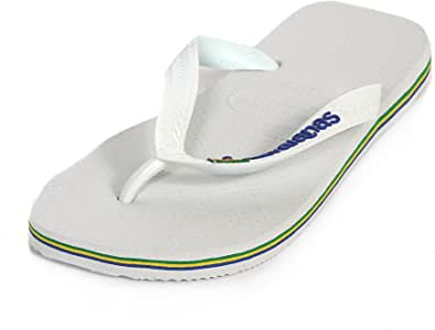 Havaianas Men's h4110850 Thong Sandals White White, White