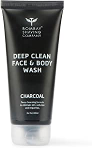 Bombay Shaving Company Activated Charcoal Face & Body Wash for removing dirt and impuritities with Anti-Pollution Effect - 20