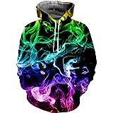 NEWISTAR Sweat à Capuche Hoodie 3D Imprimé Créatif Unisexe avec des Poches Multicolore S-3XL