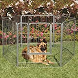 #5: Precision Pet Courtyard Kennel Silver Crackle