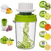 MENNYO Coupe Légumes Spirale 8 en 1, Spiraliseur de Légumes Spiralizer Legume Spaghetti pour Courgettes, Carottes…