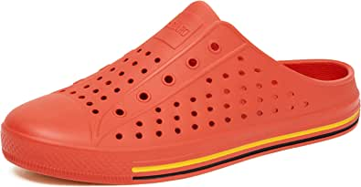SAGUARO Clogs Mules Mesh Quick-Drying Breathable Lightweight Slippers Slip On Garden Shoes for Womens Mens Orange E40