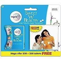 Sweet n Healthy Low Calorie Sweetner (Sugar Substitute) Aspartame Tablets, 300 Tablets (Buy 1 Get 1 Free)