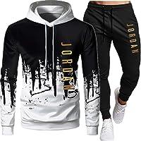 Jordan - Tuta da uomo, composta da felpa con cappuccio e pantaloni, 2 pezzi, vestibilità larga/oversize