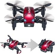 H6 Mini Drone Plegable con Control de Altura y Modo sin Cabeza 2.4GHz 4CH 6-Axis Gyro RC Quadcopter con Flips 3D,Bueno para p