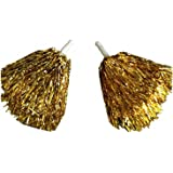 Paar Tanzwedel Pompon Cheerleader Puschel funkelnd gold Tanzen