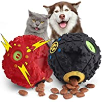 Pets Empire Pet Dog Treat Ball Dispenser Chew Ball Squeaker Training Play Toy- Color May Vary (Pack of 2, Small (7.5 cm))