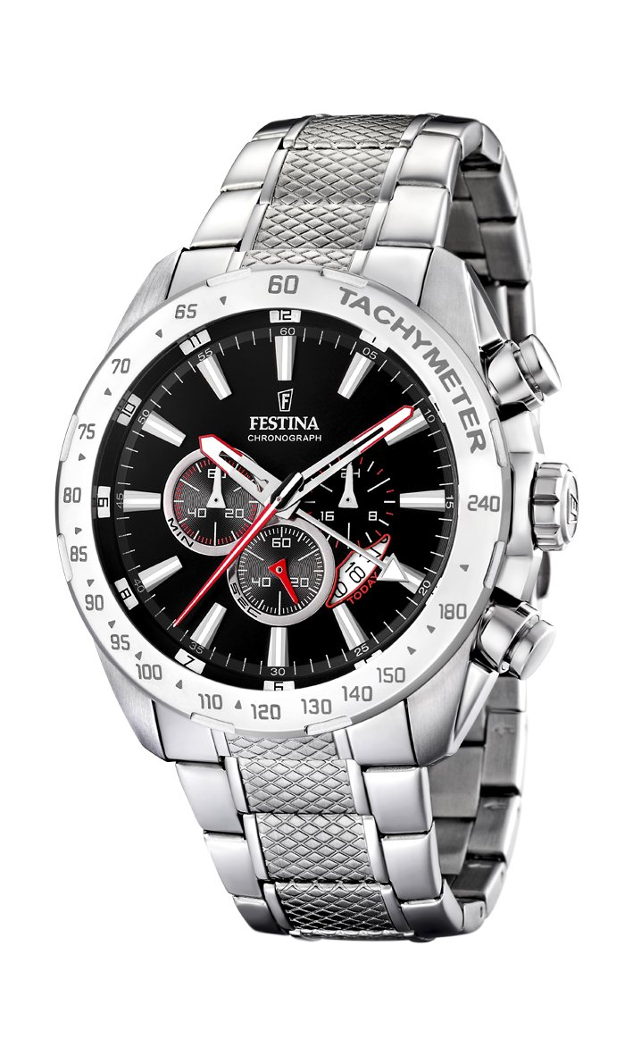 Festina Herren Chronograph Quarz Uhr mit Edelstahl Armband F16488/5