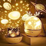 Roysmart Bébé Veilleuse Projecteur, LED Enfant Veilleuse Lampe Musicale et Lumineuse 360°Rotation,8 Chansons,6 Films de Proje