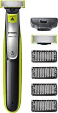 Philips OneBlade Hybrid-Styler QP2530/30, mit 1 Ersatzklinge und 4 Trimmeraufsätzen, 4 Längeneinstellungen