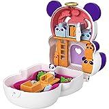 Polly Pocket Cofanetto Flip Panda, con Micro Bambola, Panda e Scomparti a Sorpresa, Giocattolo per Bambini 4+Anni,GTM58