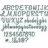 Sizzix 662228 Set di Fustelle Thinlits, 69 pz, Script maiuscolo e minuscolo (2.54cm) by Tim Holtz, Carbon Steel