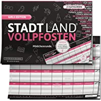 DENKRIESEN - Stadt Land VOLLPFOSTEN® - Girls Edition - Stadt Land FLUSS FÜR MÄDCHEN - Spiel FÜR MÄDCHEN - Geschenk FÜR…