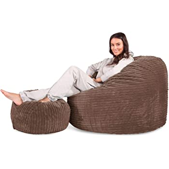 9e67b4d79d Lounge Pug® - Cord - CLOUDSAC - Large Memory Foam GIANT Bean Bag - The  GIANT - MOCHA BROWN