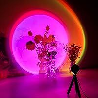 Lampe coucher de soleil, Sunset Lamp, 16 Couleur Lampe de projection avec trépied, Sunset aura, Lampe LED arc-en-ciel…