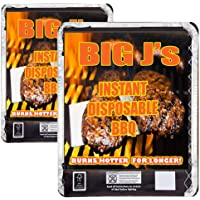 2 x Instant Disposable Barbecues. Great for small parties or for a quick BBQ with charcoal, firelighter and wire stand.