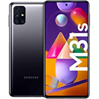 Samsung Galaxy M31s Android Smartphone ohne Vertrag, Quad-Kamera, 6,5 Zoll Infinity-O Super AMOLDED Display, starker 6…