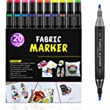Fabric Marker, RATEL 24 Set with 20 Textile Markers, 4 Painting Templates Fabric Pen with Dual Tip, Permanent and…