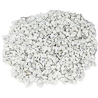 Maalavya Garden, Aquarium, Indoor Outdoor Decoration Marble Pebbles Stone, 1kg (White)