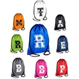 Kids Personalised Name and Split Letter Drawstring Bag School Club PE Custom Name Childrens Bag Kids Backpack Soccer Bag