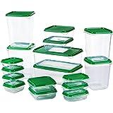 McNory Set di Contenitori per Alimenti, Lavastoviglie,Congelatore e Microonde Sicuro,Senza BPA Contenitori per Cereali,17 Pez