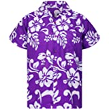 Original King Kameha | Funky Camisa Hawaiana Señores | XS-12XL |Manga Corta Bolsillo Delantero | impresión De Hawaii| Hibisco