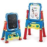 NextX Pizarra Magnetica Infantil de Altura Ajustable de Doble Cara - Tablero de Dibujo de Tablero y Pizarra de Borrado en Sec