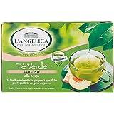 L'Angelica,Tè Verde Snellente Aromatizzato alla Pesca, Antiossidante e Attivatore del Metabolismo, Tè Drenante e Dimagrante,