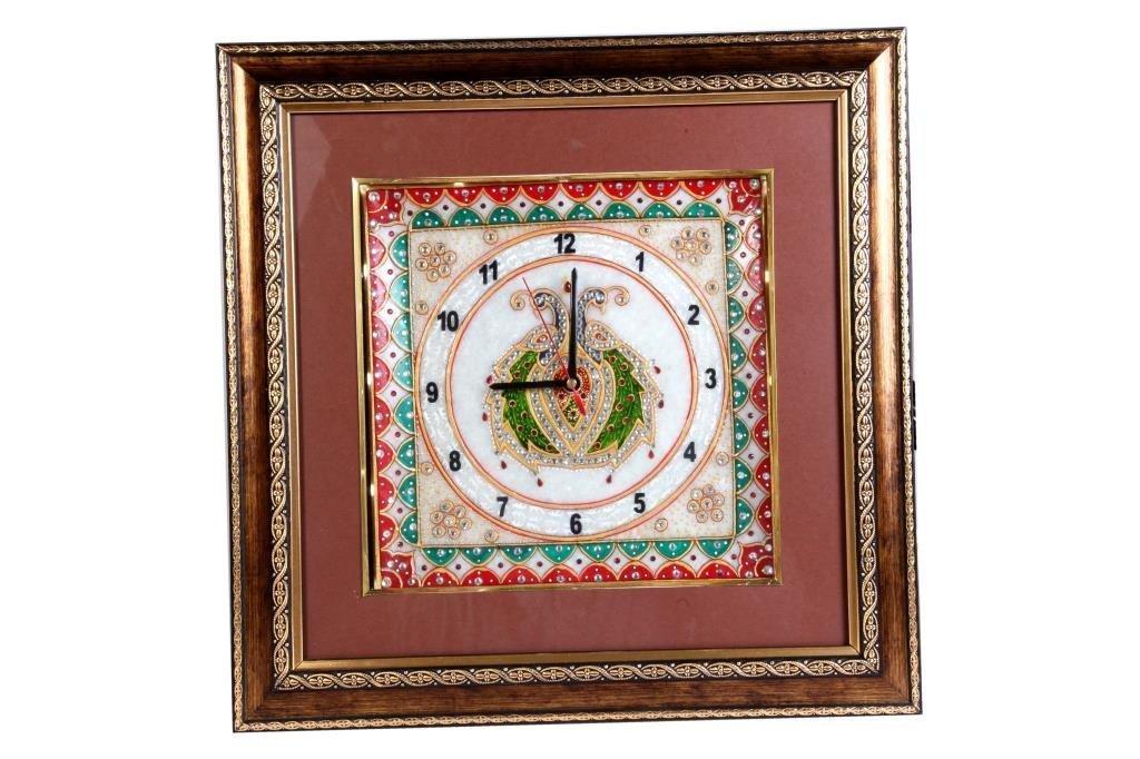 Marble & Wooden Antique Look Clock