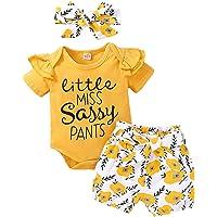Vêtements Bébé Fille Manches Courtes D'été Barboteuse + Pantalon + Bandeau Costume Bebe Fashional Tenues Ensemble Belle…
