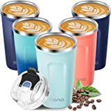 Amazon Brand - Eono Mug Isotherme 380ml, Thermos Cafe Réutilisable à Double Paroi en Acier Inoxydable, sans BPA, Facile à Ne