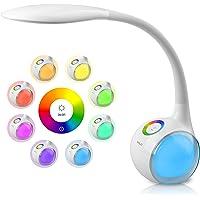 WILIT T3 Lampe de Bureau Enfants avec 256 RGB Veilleuse Ambiante, LED Lampe de Chevet Dimmable, Tactile pour Lumière de…