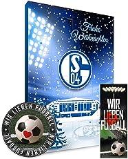 FC Schalke 04 Adventskalender 2018 S04 + gratis Lesezeichen & Aufkleber Wir lieben Fussball