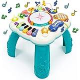 Fajiabao Table Activité Bébé 6 en 1 - Jouet Enfant Jeux Bebe 2 3 4 5 Ans Fille Garçon Table d'Activité Musicale Bebe Jouet Ev