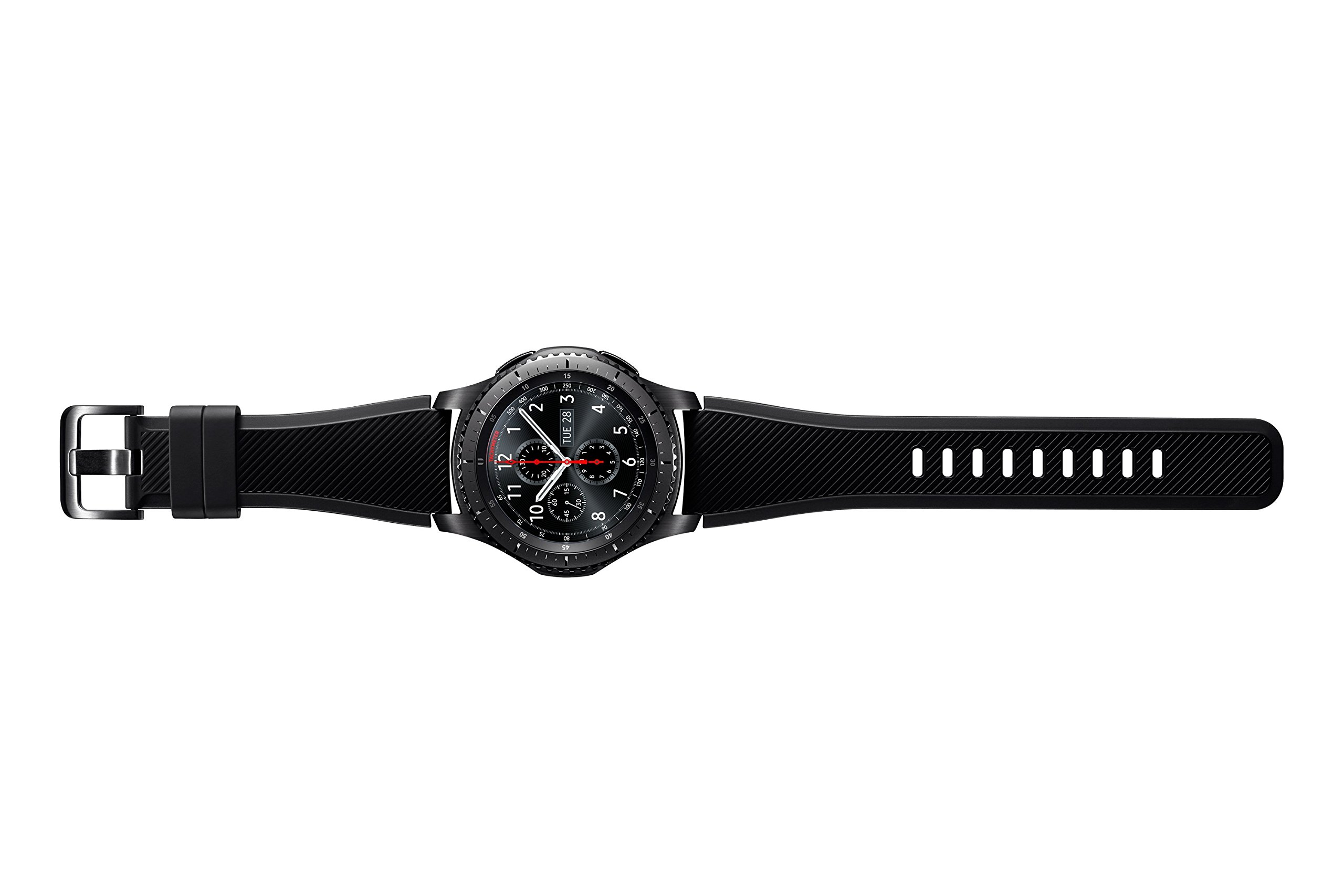 "Samsung Gear S3 Frontier - Smartwatch Tizen (pantalla 1.3"" Super AMOLED 360x360, GPS integrado, batería 380 mAh, altavoz integrado), color Gris (Space Gray)- Version española 4"