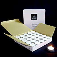The Light of EDEN Wax Tea Light, Pack of 50, Unscented