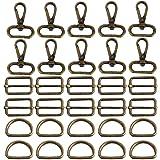 witgift 60 draaischarnier karabijnhaken D-ringen 25 mm ringgesp-tas halve ring riemversteller rugzakgesp spangespen voor tass