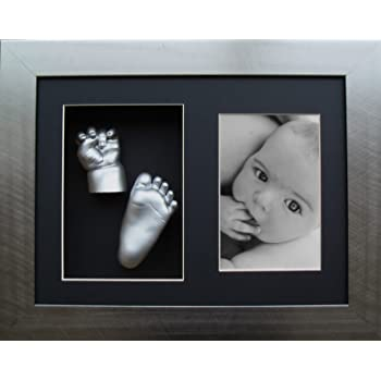 Twins Baby Hand Footprint Casting Kit Set Silver Casts by BabyRice