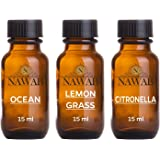 NAWAB Essential Aroma Diffuser Oil(Ocean,Lemongrass,Citronella-15ml Each)