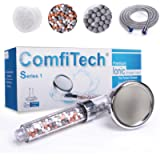 Shower Head, ComfiTech Ionic Shower Head with 2M Shower Hose, Filter Shower Head for Hard Water to Increase Pressure 3…
