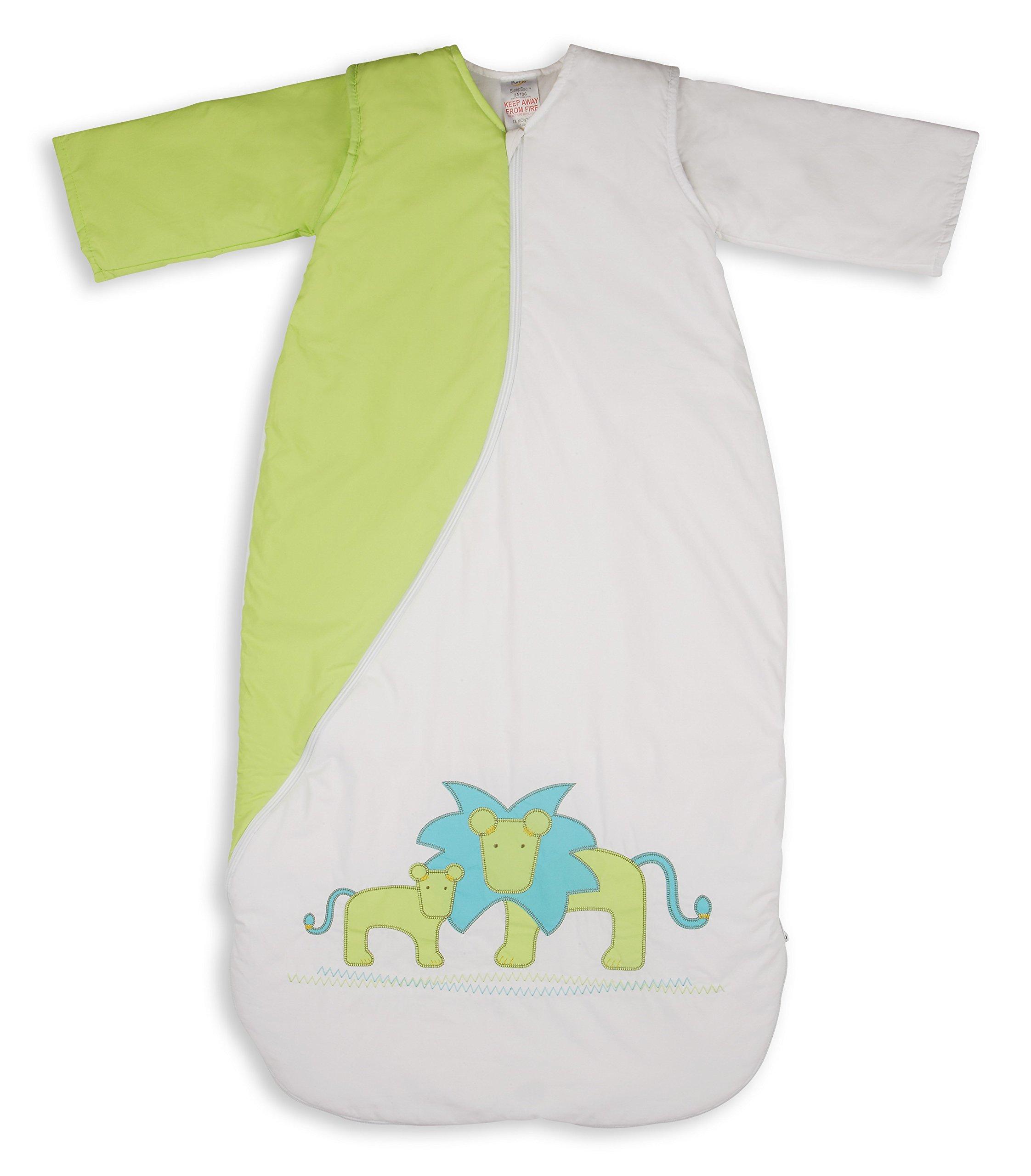 PurFlo SleepSac Bordado 1.0 TOG (león Kiwi, 18 Meses +) Saco de Dormir para bebé