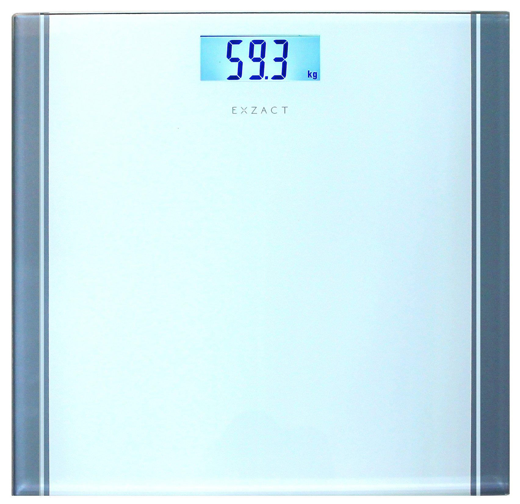 71wZrJac1FL - Exzact - Báscula Corporal Electrónica/Báscula de Baño Digital/Escala Personal -Capacidad Grande 180kg / 400lb / 28st