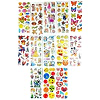 Gifting Square Cartoon Puffy 3D Cute Stickers Funny for Kids On Gifts (10 Sheet)