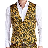EKU Men's Casual Sleeveless V-Neck Single Breasted Dress Suit Vest Waistcoat