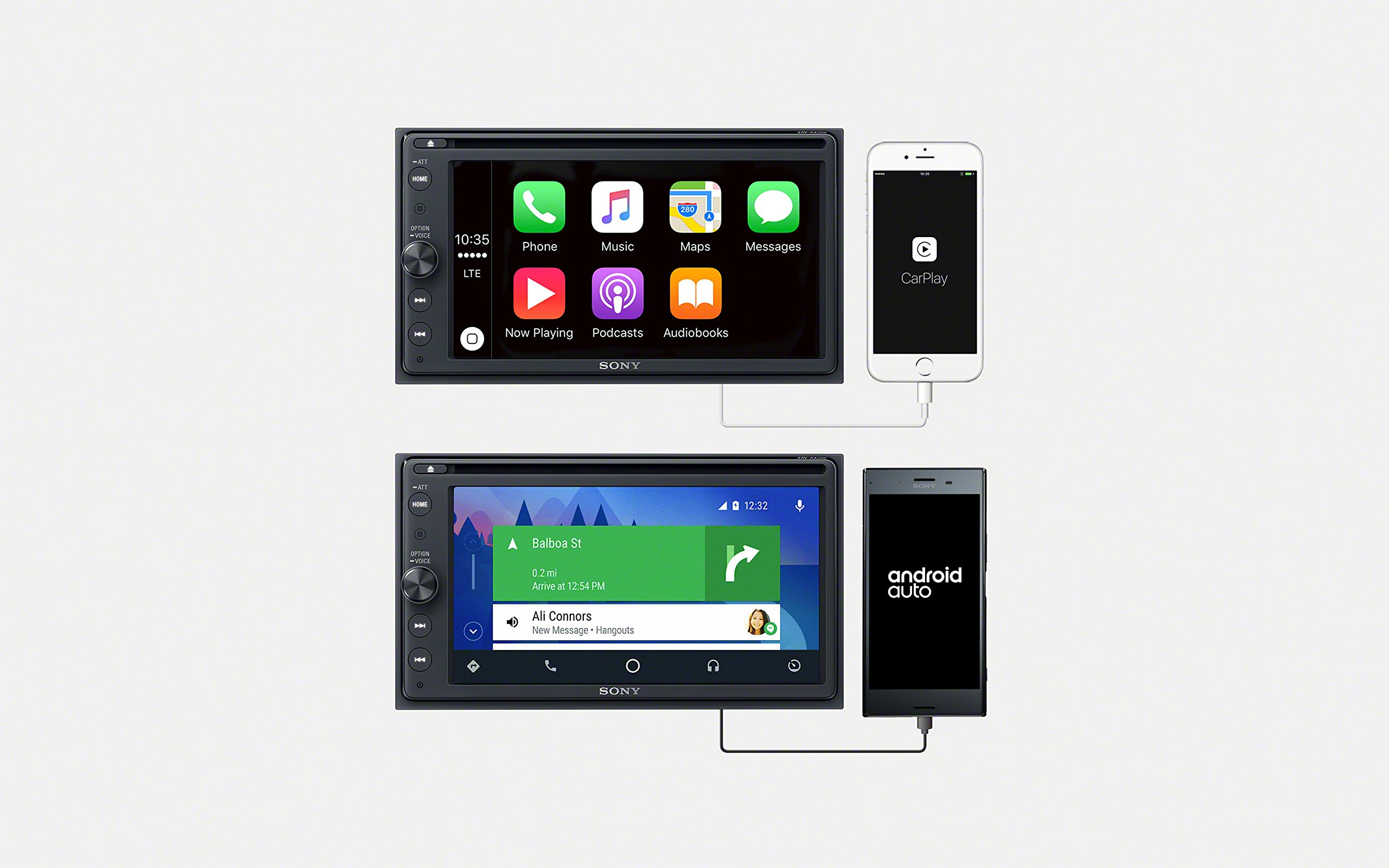 Sony-XAV-AX100-163-cm-64-Zoll-Media-Receiver-mit-Bluetooth-Apple-CarPlay-und-Android-Auto-Navigation-Spotify-2-Din-Autoradio