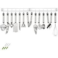 TecTake Set accessoires de cuisine en acier inoxydable 13 pièces ustensiles